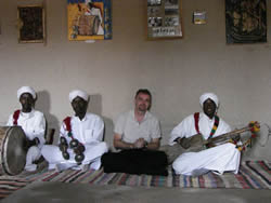 With musicians in Morocco. Courtesy of Music Khamlia.