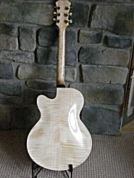 Archtop built with instruction from Dale Unger, back